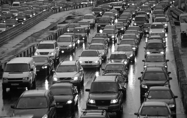 Traffic jams in Russia
