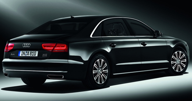Audi A8 L Security W12 rear